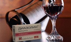 Що буде якщо поєднати діазолін з алкоголем, чи можна це робити