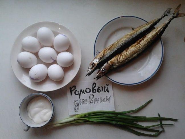 Фоторецепт простий закуски: яйця, фаршировані копченою рибою