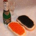 Правильне поєднання ікри та шампанського