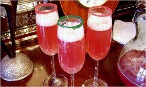 Сервіровка святкового столу - прикраса коктейлів
