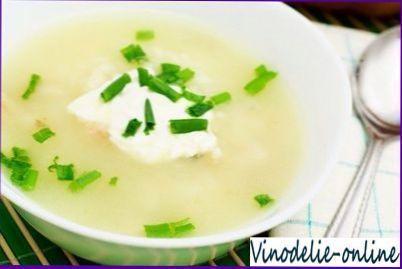 Суп з білого вина