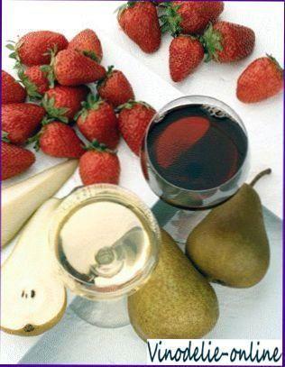 Вино і свіжі фрукти