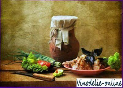 Печеня з кролика з білим вином