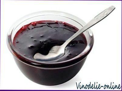 Желе з чорної смородини та червоного вина